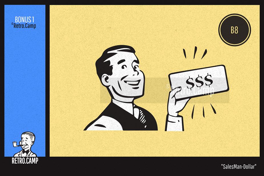 """B8 """"Sales Man-Dollar"""""""