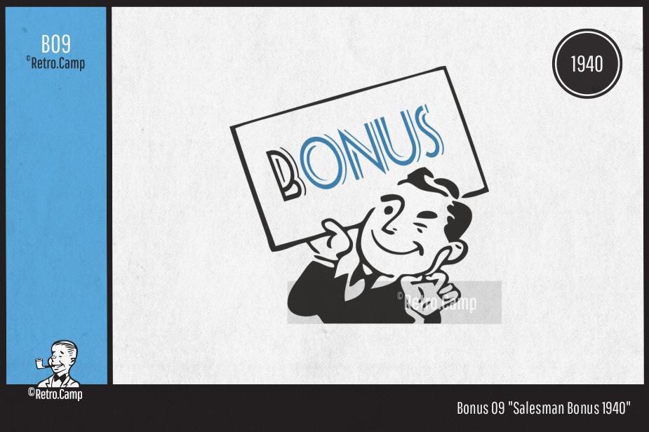 "B9 ""Salesman Bonus 1940"""